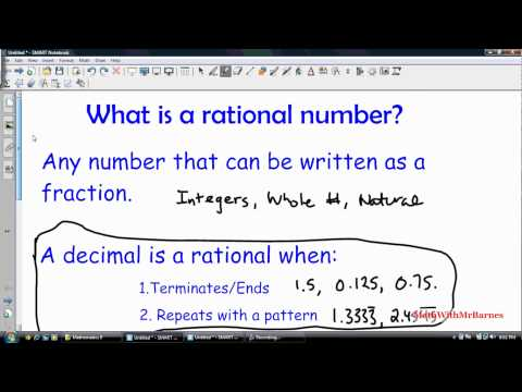 Math 9 - What is a Rational Number?