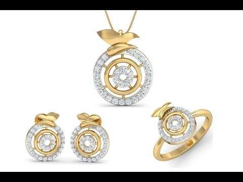Stylish goldplated imitation jewellery sets || fancy lightweight pendant with earrings collections