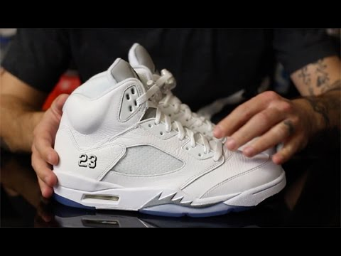 classic fit 8a28a 408a6 Air Jordan 5 Retro White/ Metallic Silver