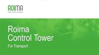 RoimaCloud Control Tower for Transport