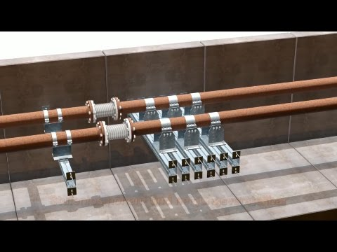 Pipeline systems: Installation of anchor points with MÜPRO STATO brackets