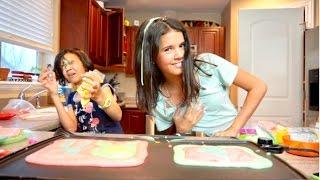MESSY Pancake Art Challenge FAIL!