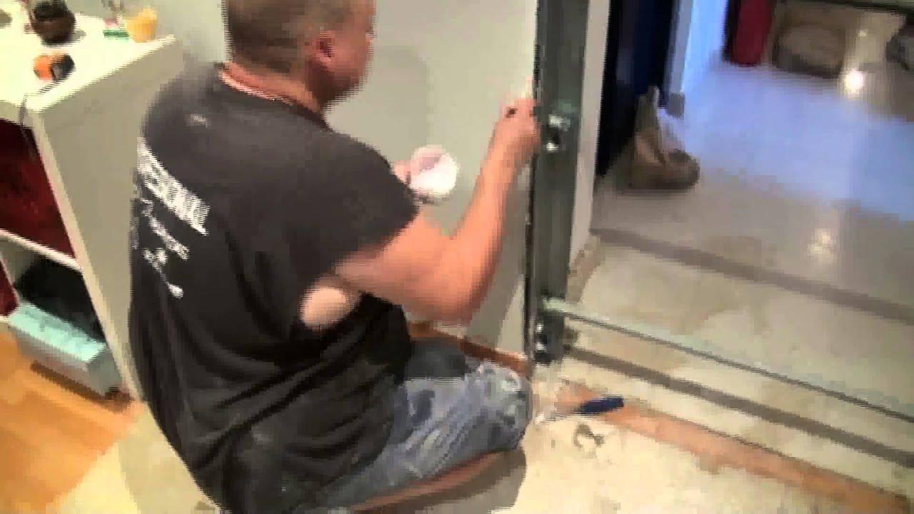 Como instalar una puerta acorazada sobre pladur 1ª parte) - YouTube