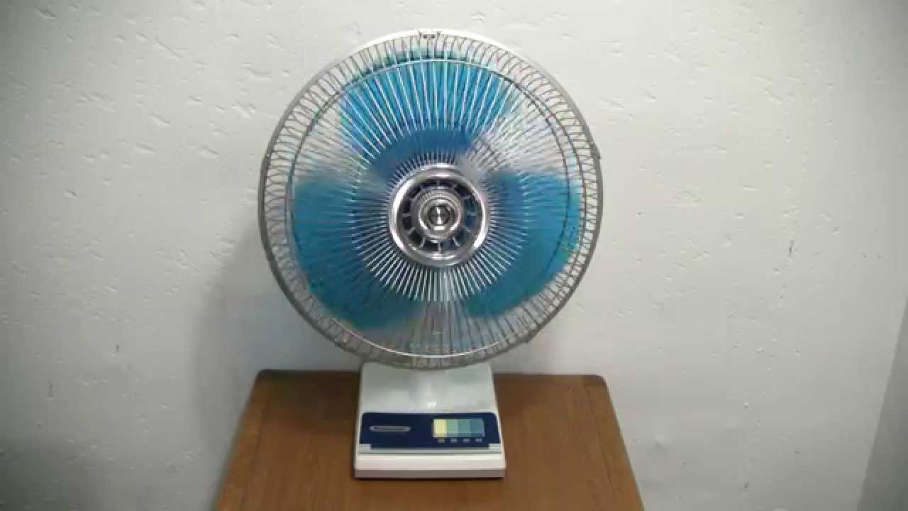 Panasonic Table Fan : Panasonic f a oscillating fan youtube
