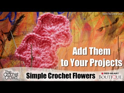 Learn How to Crochet Simple Flowers with Mikey from The Crochet