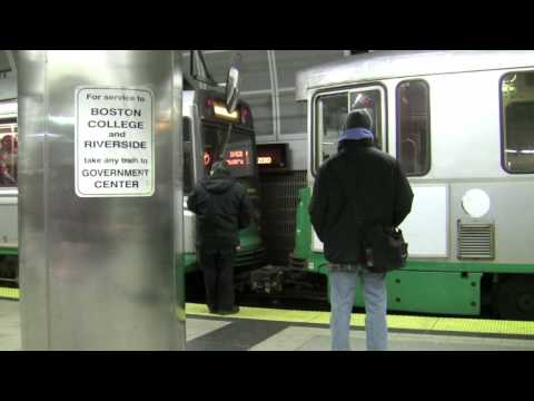 RARE! MBTA Green Line Coupling @ North Station