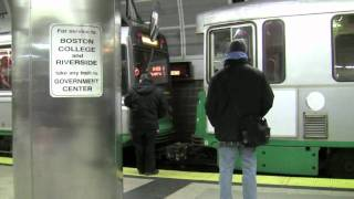 RARE! MBTA Green Line Coupling @ North Station