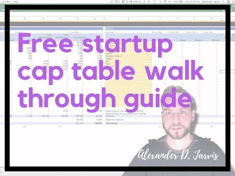 Free startup cap table walk through guide