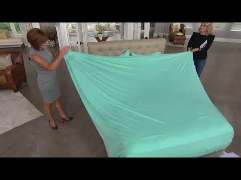 Northern Nights 100% Organic Cotton Jersey Knit Sheet Set on QVC