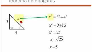04 Teorema de Pitagoras - Calculo de la hipotenusa videosdematematicas.com
