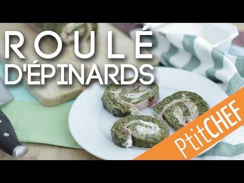 recette-de-roulé-aux-épinards,-ptitchef