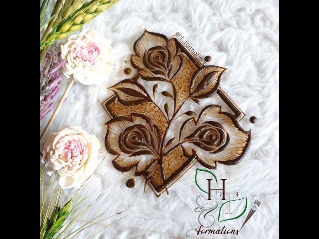 New henna-mehndi design with khaleeji flowers