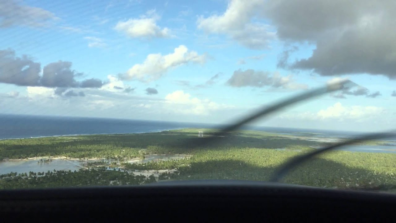 Landing Kiribati also known as Christmas Island. - YouTube