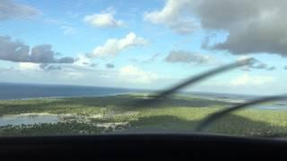 Landing Kiribati also known as Christmas Island.