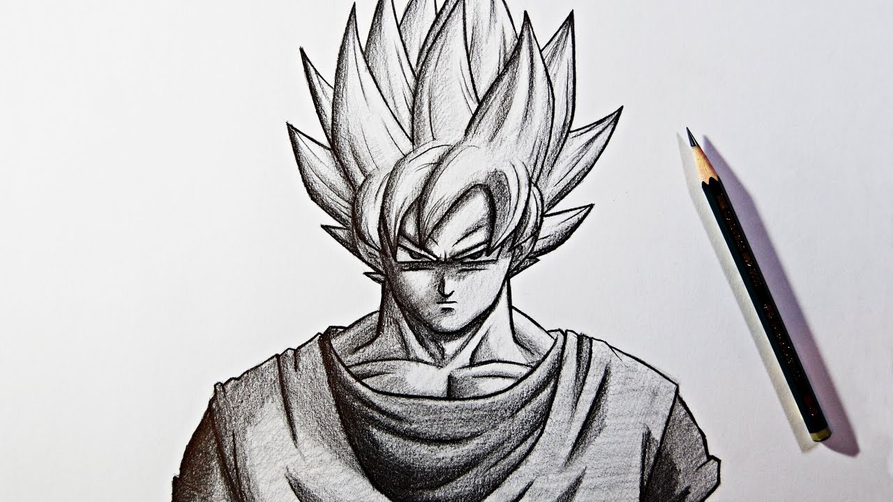 Dragon ball super pencil drawing goku super saiyan zeichnen