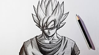 Dragon Ball Super Pencil Drawing | Goku Super Saiyan Zeichnen