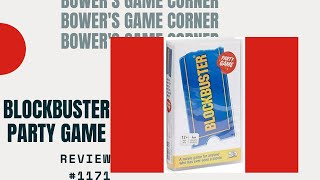 Bower's Game Corner: Blockbuster Party Game Review