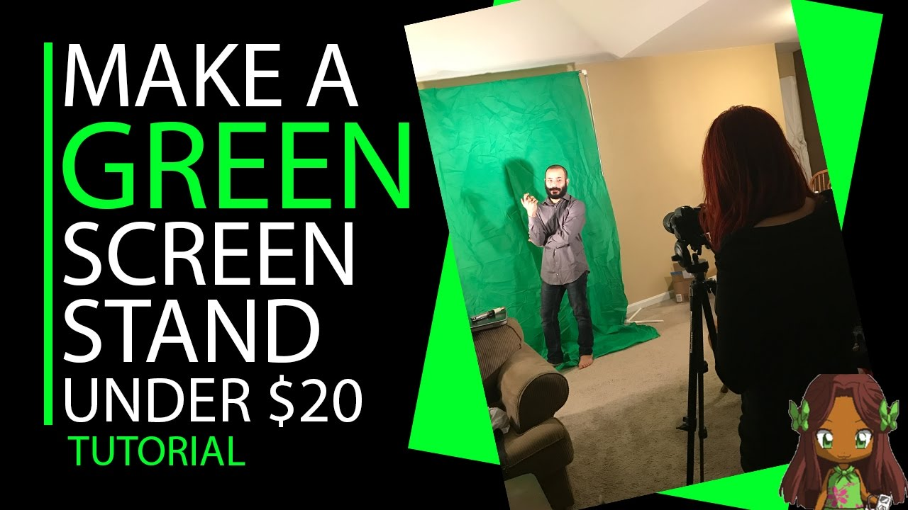DIY Green Screen Stand (Photography On A Budget) | Nurdmedia