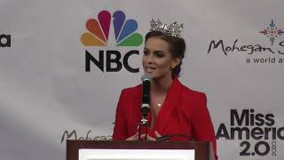 New Miss America 2.0 Camille Schrier of Virginia 1st News Conference