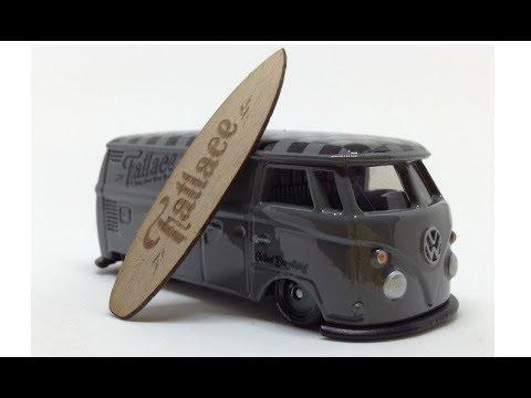Hot Wheels 2017 Illest Fatlace 1964 Volkswagen T1 Panel Bus W Bonus Surfboard Stickers Youtube
