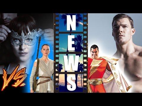 Fifty Shades Darker Trailer vs Star Wars The Force Awakens, Alan Ritchson is Shazam?