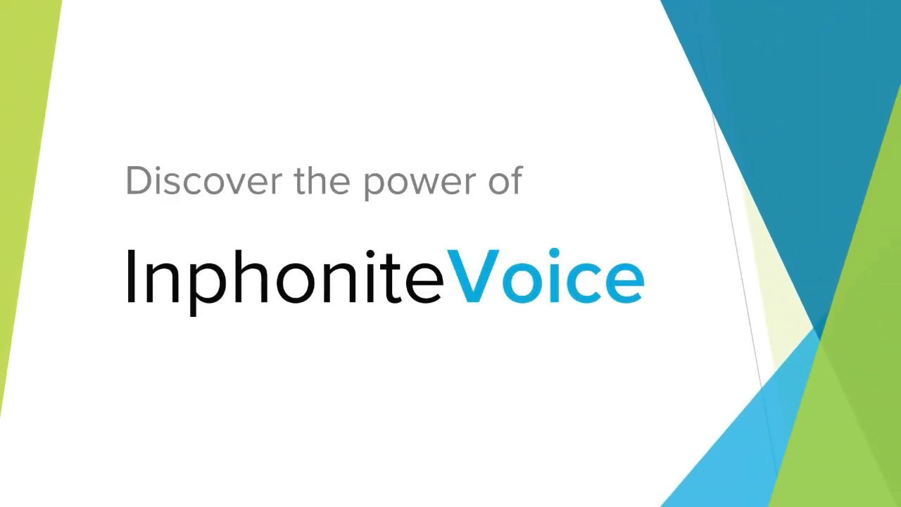 How to use the InphoniteVoice Mobile App