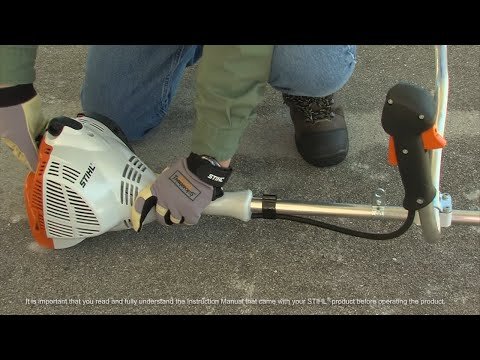 STIHL FS 56 C-E Bike Handle Trimmer- How to Start