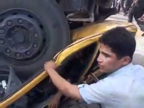 اقوى حادث سياره سايبه thumbnail