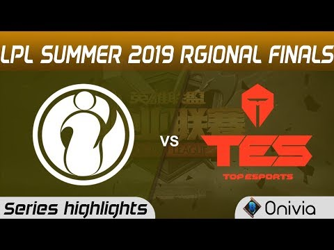 IG Vs TES Series Highlights LPL 2019 Regional Finals Invictus Gaming Vs Top Esports LPL Highlights B