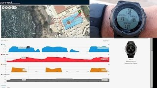 Garmin Fenix 3 Open Water Swimming and MIO Link Heart Rate Monitor Activity Demo