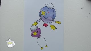 Drawing Pokemon: No. 425 Drifloon, No. 426 Drifblim