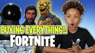 KID BUYS EVERYTHING IN FORTNITE STORE!! FREE V BUCKS