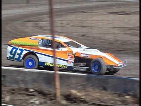 #93 Kyle Morris IMCA Modified Practice Barona Speedway 5-20-2017