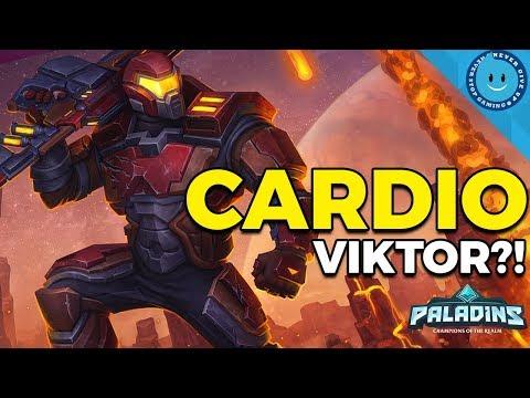 Paladins: Cardio Viktor Legendary Gameplay and Loadout! Run Away To Win?