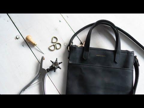Making a Women's Leather Mini Tote Bag w/ Zipper