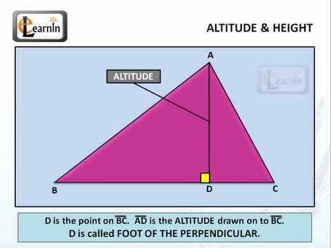 Altitude Or Height Of A Triangle Mathematics YouTube - Altitude and height