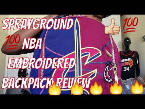 SPRAYGROUND GOLDEN STATE WARRIORS & CLEVELAND CAVS EMBROIDERED BACKPACK REVIEW