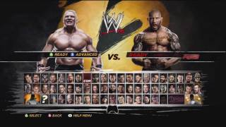 WWE 12 Batista Vs Brock Lesnar DLC Gameplay