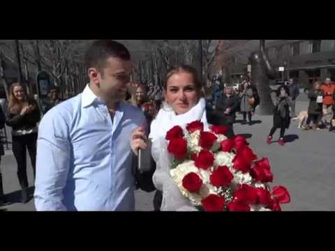 Marcos Flash Mob Proposal To Artlet In New York Ny Youtube
