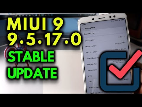 MIUI 9.5.17.0 STABLE UPDATE Released REDMI Note 5 PRO