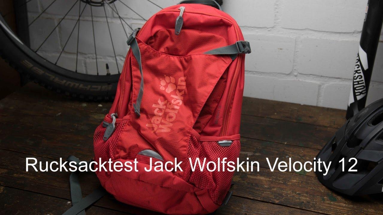 Rucksack Test Jack Wolfskin Velocity 12 - YouTube