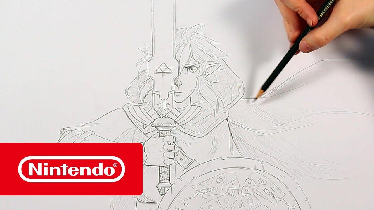 The Legend of Zelda: Breath of the Wild - ¡Así dibujan a Link en ...