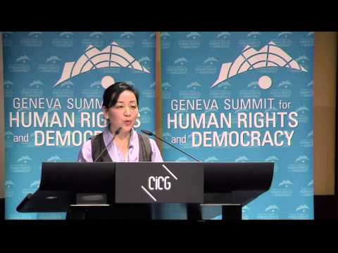 Tibetian Foreign Minister Dicky Chhoyang at 2013 Geneva Summit for Human Rights