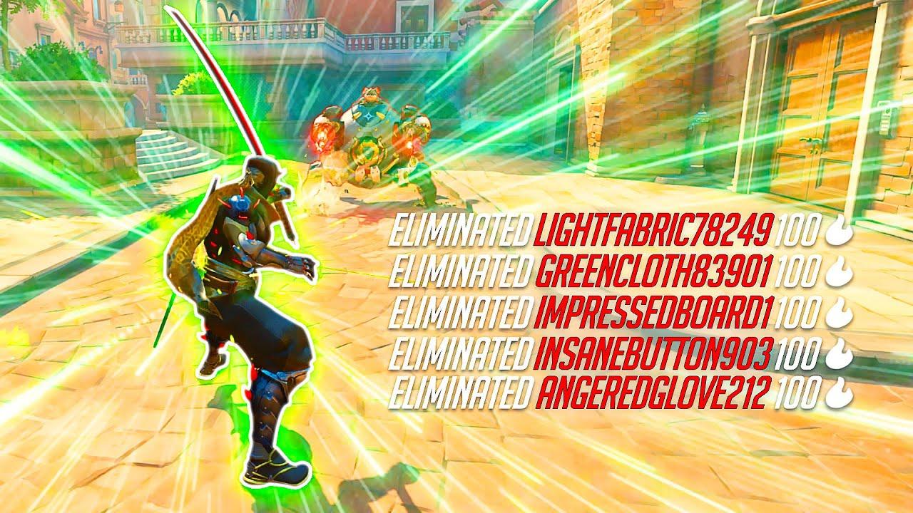 Insta-Genji Deflects that leave the ENEMIES FROZEN - Overwatch