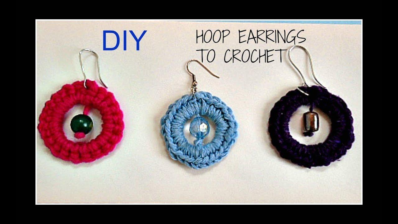 Big Hoop Crochet Earrings Crochet Jewelry Free Crochet Pattern