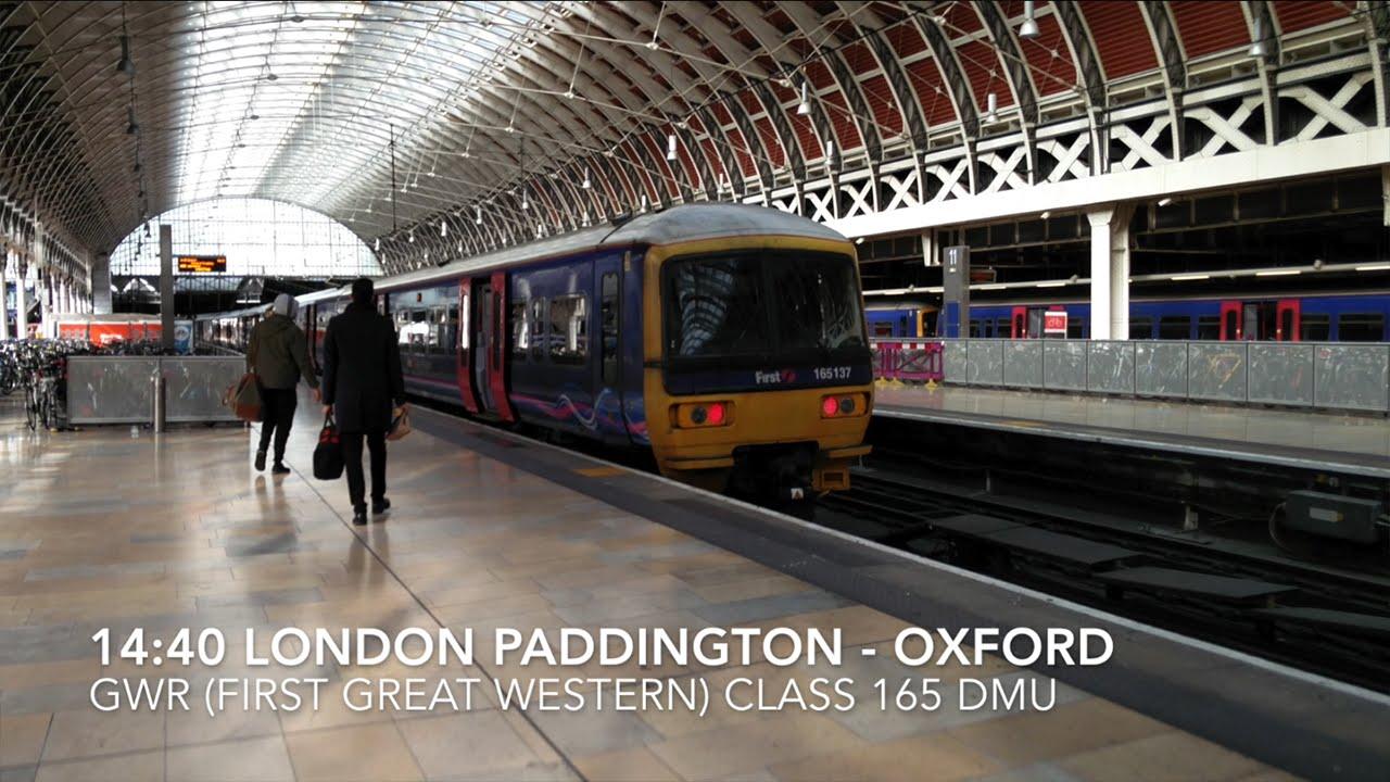 London Paddington to Oxford Rail Journey Aboard GWR Class 165 YouTube