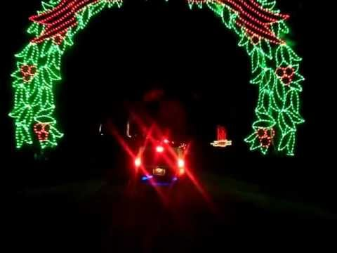 The Festival of Lights at Tanglewood Park Clemmons, NC - YouTube