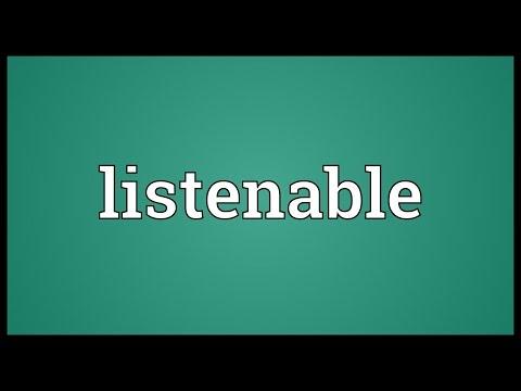 Header of listenable
