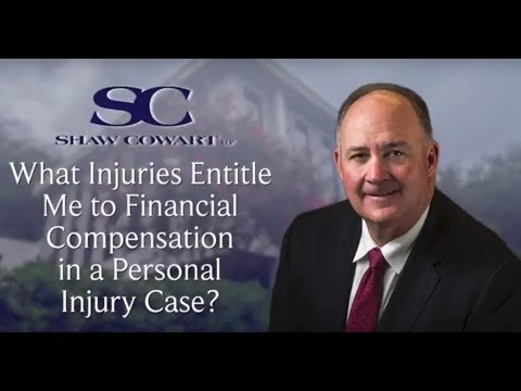 What Injuries Entitle Me to Financial Compensation?