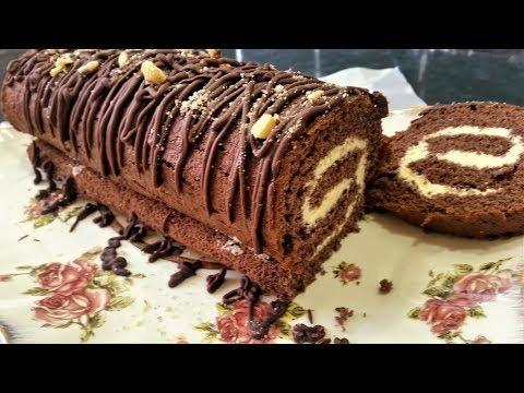 Обалденный шоколадный рулет...самый простой рецепт-Ани Кухня!